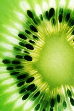 A good reason to eat kiwi: KIWI fruit helps your digestions with enzymes, it contains actinidain, a protein-dissolving enzyme that can help digest a meal much like the papain in papaya or bromelain in pineapple. (Photo from P.S.- I made this...)