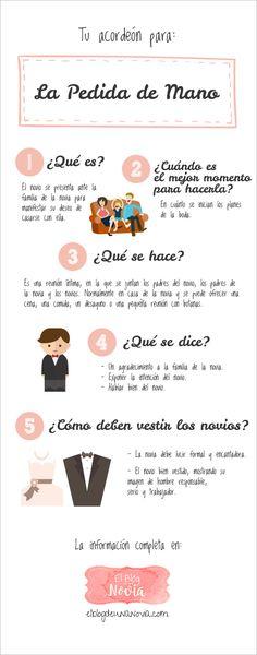 La Pedida de Mano: qué se hace, qué se dice, cómo se visten... | #Infografía #Boda #novios #pedidademano