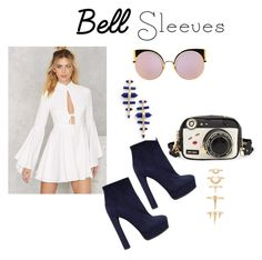"""""""Bell sleeves"""" by paolacaligirl on Polyvore featuring Nasty Gal, Casadei, Kendra Scott, Fendi, Betsey Johnson and Luv Aj"""