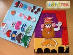 Mr. Potato con todos sus accesorios