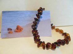 Natural genuine Baltic amber Bracelet 7.2 g multicolor beads raw stones polished #Handmade #Beaded