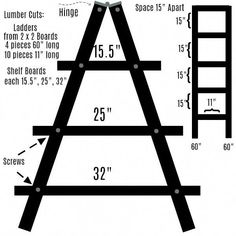 Finding Woodworking Patterns for All Your DIY Projects – The Woodworking Shop Plant Ladder, Diy Ladder, Ladder Display, Wooden Ladder Shelf, Stall Display, Ladder Decor, Easy Woodworking Ideas, Woodworking Plans, Woodworking Crafts
