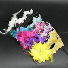 Venetian-Lace-Flower-Masquerade-Ball-Mask-Party-Fancy-Dress-Halloween-Costume-YG