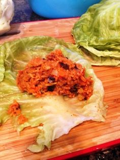 vegan stuffed cabbage (contains eggplant)