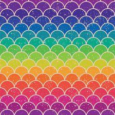 Rainbow Glitter Scales fabric by sandityche on Spoonflower - custom fabric