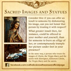 Sacred Images and Statues Catholic Theology, Catholic Religious Education, Catholic Answers, Catholic Religion, Catholic Quotes, Catholic Prayers, Catholic Saints, Religious Quotes, Roman Catholic