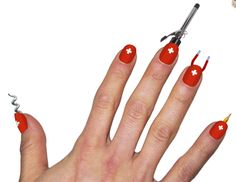 Nail Idea of the Future: Swiss Army Nails (keep all your essential tools at your fingertips!)