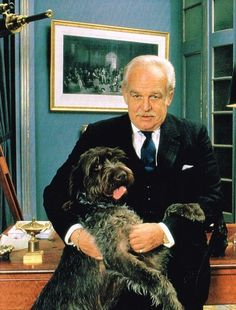 graceandfamily: Prince Rainier III posing with his dog,