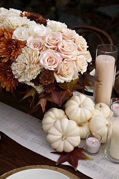 Add pale pink to white and orange for fall. Love it!