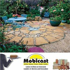 What do you think about this circular #patio #squares rounds?  Mobicast ( Bricks, Blocks, Pavers and Kerbs ) has the largest range of bricks, paving and retaining blocks in the Southern Cape. We have branches in George, Mossel Bay and Harkerville.