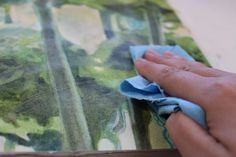 How to apply a wax finish to a watercolor painting mounted on board. by SANDRINE PELISSIER