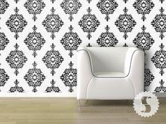 Swag Paper Temporary Wallpaper DIY Diamond Damask $56.25