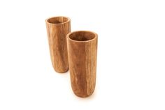 "Kala Vase | An #elegant and #natural teak wood vase | Dia10"" x H22.5"" #teak #salvaged #decor #home #giftidea Wood Vase, Teak Wood, Wood Furniture, Gift Guide, Sculpting, Salvaged Decor, Projects, Gifts, Elegant"