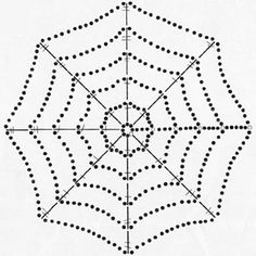crochet spiderweb ~ I think the instructions are in German? Would love an English translation