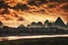 Sunrise in Yangshuo, China www.nextstepchina.org study abroad