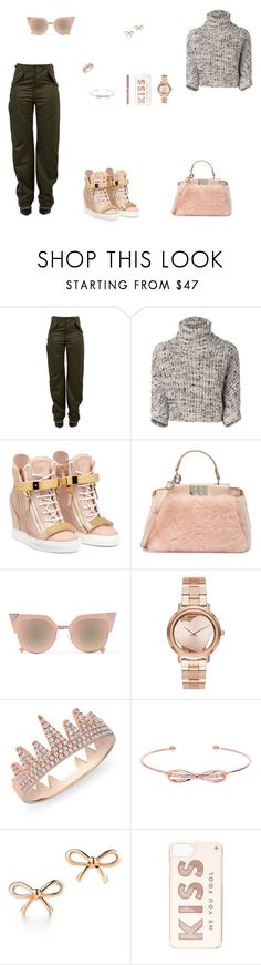 """""""Look do Dia"""" by julianaf121 ❤ liked on Polyvore featuring Balenciaga, Brunello Cucinelli, Fendi, Michael Kors, Anne Sisteron, Ted Baker, Tiffany & Co. and Kate Spade"""