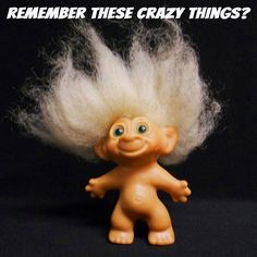 Troll Doll: mine had clothes that I made from felt. I think the hair on my doll looked better!