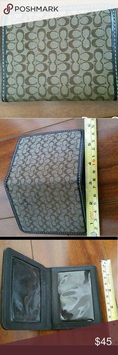 Coach unisex card holder LIKE NEW. Great for clubbing or for the special one in your life... especially if they/you don't like to carry much.  ****Deal of the day: Every day, 1 item is selected for a special deal up to 50% off..or BOGO ?% off, or SUGGESTIONS WELCOMED!!****  *Temporary special: LOW BALL OFFERS WELCOMED--let's come to a happy compromise :) Coach Accessories