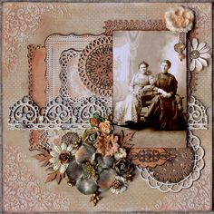 Jenny and Anna - Scrapbook.com  Basic principle can be adapted for crazy quilting or art quilting