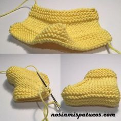 Patuco limón 4 Discover thousands of images about Hand Knitted Baby Shoes-Booties, tricô, Bois e outras 12 pastas como a sua, instructions in SPatuco for baby knitting with needles of number 3 with techniques of stitch bob . Baby Booties Knitting Pattern, Crochet Baby Shoes, Crochet Baby Booties, Baby Knitting Patterns, Baby Patterns, Knitted Baby, Crochet Slippers, Knit Crochet, Crochet Hats