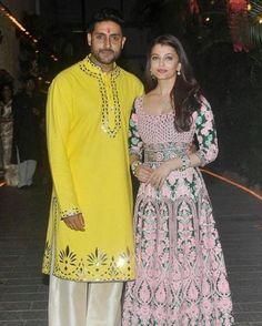 This Is How Abhishek And Aishwarya Celebrated Their Wedding Anniversary Anniversary Dress, 10th Wedding Anniversary, India Fashion, Royal Fashion, Men Fashion, Indie Mode, Indian Goddess, Fashion Illustration Dresses, Bollywood Fashion