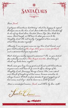 a personalized letter from santa more