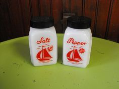 Vintage Mc Kee Milk Glass Salt and Pepper Shaker by peacenluv72, $42.50