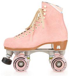 The only way to get around Central park. Strawberry Moxi skates. moxie, roller skates, skates, pink, pink skates