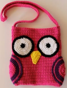 Crochet Owl Bag
