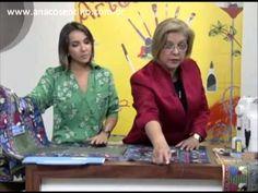 ▶ Patchwork Ana Cosentino: Centro de Mesa Anjos (Mulher.com) - YouTube