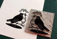 Chris Brown | Illustrator | Central Illustration Agency #robin #bird #print #linocut #printmaking #ink #christmas