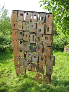 Wall, 2009, by Alinda Ottens ~ beeld-bouwer.nl | NL Metal Working, Templates, Kunst, Stencils, Metalworking, Vorlage, Models