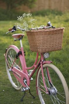 A lovely pink bicycle