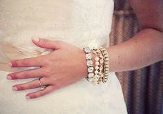 bold bridal jewelry.  I'm liking the mixed metals and pearl combinations