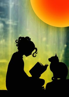 This is totally me with my cat ♡ :-D - Sujets de Peinture Cat Drawing, Painting & Drawing, Art Mignon, Art Et Illustration, Silhouette Art, Crazy Cats, Cat Art, Cute Wallpapers, Art Girl