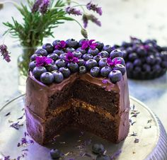 Soft and moist double chocolate cake with apricot jam topped with a delicious chocolate-coconut topping. Vegan and gluten-free. Chocolate Cake Designs, Double Chocolate Cake, Chocolate Cream, How To Make Chocolate, Vegan Chocolate, Chocolate Desserts, Making Chocolate, Vegan Sweets, Vegan Desserts