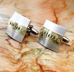 Belted Custom Cuff links  Personalized by BlueCornerCreasigns