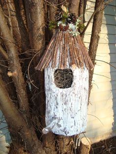 Birdhouse Rustic Home Decor by NaturalReproductions on Etsy, $19.99