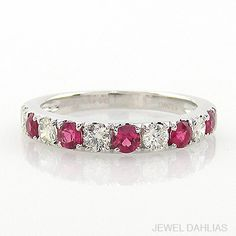 JEWEL DAHLIAS リフォーム一例(0464) プラチナ、ダイヤモンド、ルビーリング