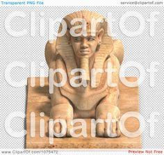 Clipart Sandstone Egyptian Sphinx Statue 1 - Royalty Free CGI Illustration by Sphinx Egypt, Clip Art Pictures, Royalty Free Clipart, Free Cartoons, Cartoon Styles, Cgi, Egyptian, Mermaid, Fine Art Prints