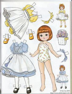 (⑅ ॣ•͈ᴗ•͈ ॣ)♡ ✄Paper Dolls Tiny Betsy McCall paper doll by Siyi Lin by atrikaa, via Flickr