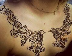 Pin for Later: 26 Striking Henna Designs That Will Leave You Breathless Henna Body Art, Mehndi Tattoo, Henna Mehndi, Henna Art, Hand Henna, Henna Tattoos, Henna Hands, Mehendi, Henna Motive