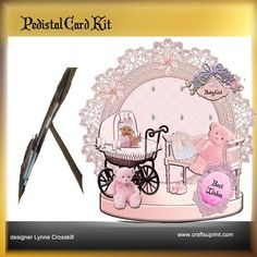 Baby Girl Pedestal Card on Craftsuprint - View Now!