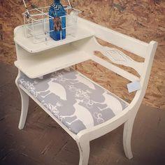 #gossipbench #upcycledfurniture #mwmerchantabilenetexas #abilenetx #allthingsabilene #rustandrosesabilenetx by mwmerchant  Manor White