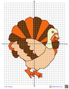 Graphing Worksheets Four Quadrant Characters Geometry Activities Algebra Thanksgiving Math