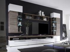Living Room Gray Ideas - Home Decoration Living Room Wall Units, Living Room Tv Unit Designs, Living Room Grey, Home Living Room, Tv Cabinet Design, Tv Wall Design, Muebles Rack Tv, Tv Wall Cabinets, Wall Unit Designs