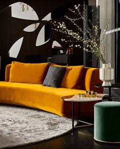 Curved sofa AUDREY by Gallotti&Radice