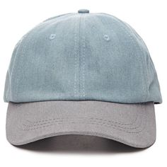 Colorblocked Denim Baseball Cap - 21MEN - 2000077379 - Forever 21 EU (34 ILS) ❤ liked on Polyvore featuring accessories, hats, fillers, headwear, denim baseball cap, baseball cap, block hats, baseball hats and denim baseball hat