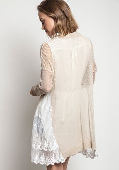 Mesh Knit Cardigan; Get ready for compliments in this adorable mesh knit cardigan. Can easily be thrown on with jeans, or a dress. Either way you will be sure to impress.