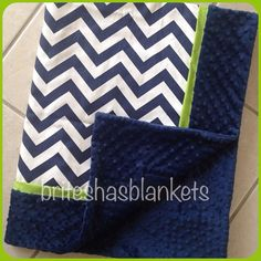 Hey, I found this really awesome Etsy listing at https://www.etsy.com/listing/177367609/baby-blanket-navy-chevron-withgreen-trim
